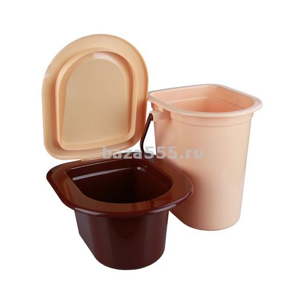 М3051 ведро-туалет 17л. со съемным горшком размеры изделия (дхшхв)400х360х380 мм(уп.5)