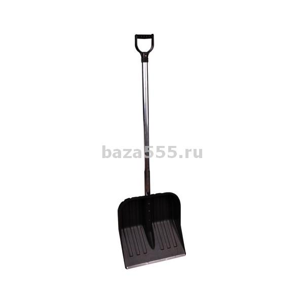 М3613 лопата д\снега с наконеч.(с черенк.)(430х420)(уп.3)
