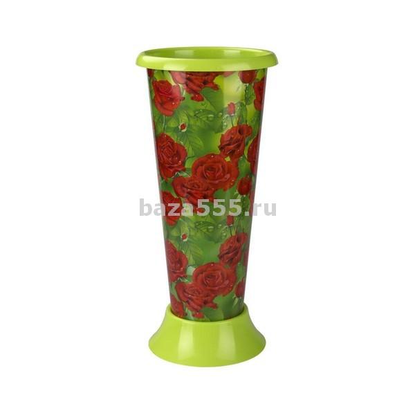 "М4879 ваза под срезку""алые розы""(уп.12)"