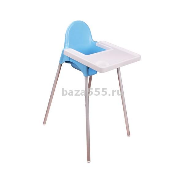 М6249 стульчик для кормления (голуб)(уп.4)без скидки!