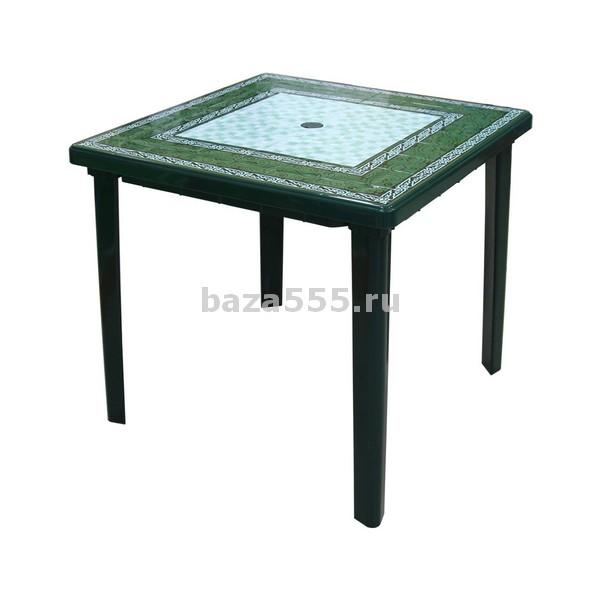 "М3014 стол ""малахит"" квадр.(800х800х740)(темно-зел)(уп.1)"