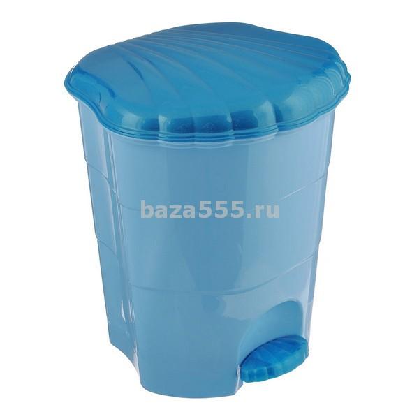 0507/3 Ведро для мусора с педалью 7л (голуб/син)