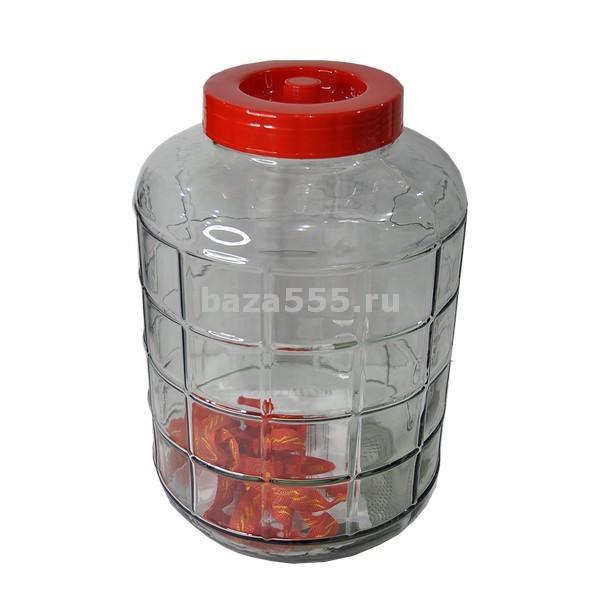 Банка стеклянная с гидрозатвором  23 л /  2 шт