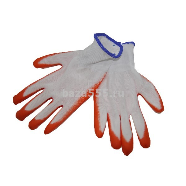 Перчатки оранжевые прорезиненные N -401/ 12 шт/600 шт в мешкеБЕЗ СКИДКИ