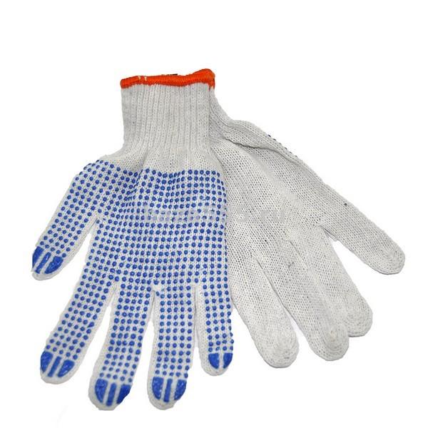Перчатки белые точка   N -204/ 12 шт/600 шт в мешкеБЕЗ СКИДКИ