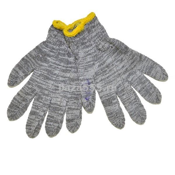 Перчатки  х/б  серые  Y -107 ,Y -108/ 12 шт/600 шт в мешкеБЕЗ СКИДКИ