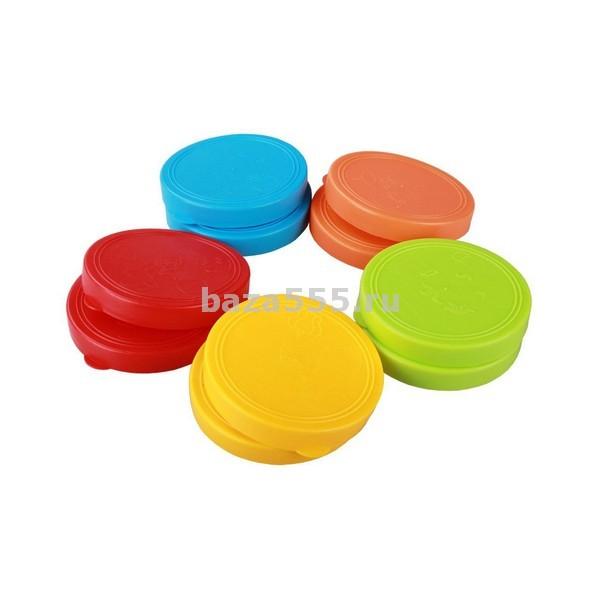 Набор п/этил.крышек к стеклобанке для консервирования 10 шт. ангарск(6006пк)/30 уп.