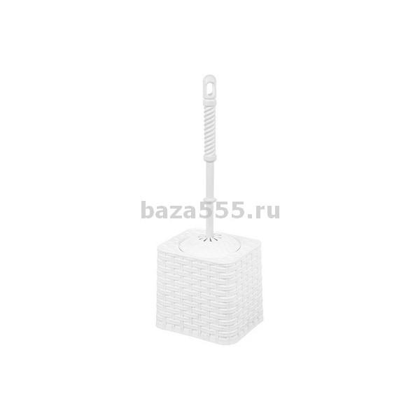 1401/3 Набор для WC (ёрш+подставка) круглый(голубой)