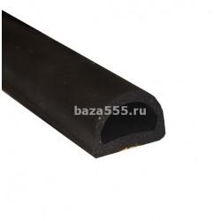 Уплотнитель Резиновый D профиль 50 м 21*15 (Черный)/4,шт