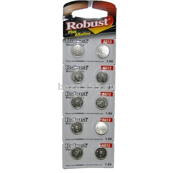 """Батарейки """"robust"""" ag12 таблетка 70wy-17-432/300бл."""