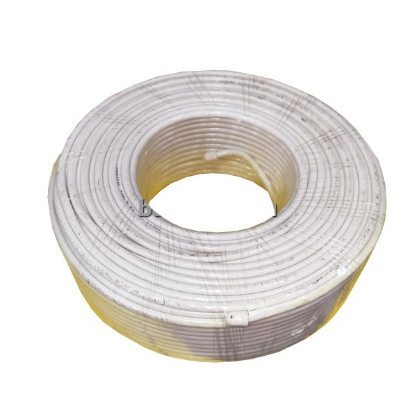 Белый кабель антенный  rg-6 100 м 70wy-18-13/70wy-23-400/кор,6 бухт