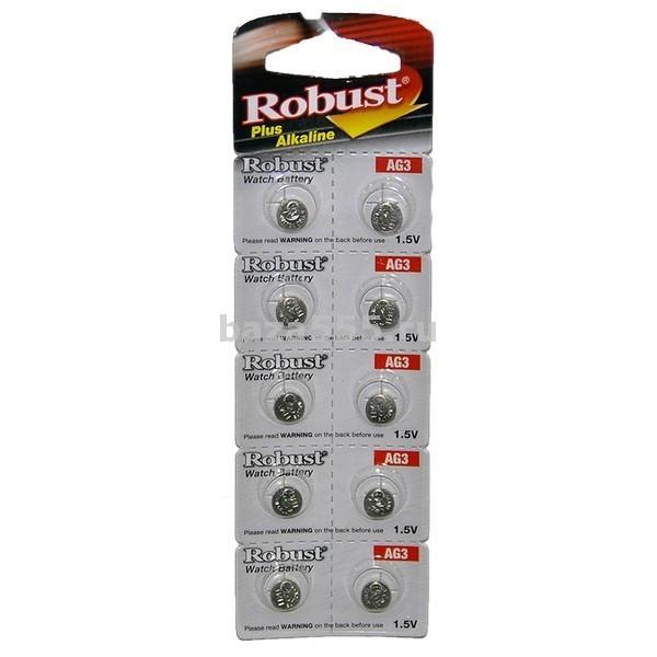 """Батарейки """"robust"""" таблетка ag3 70wy-5-299/70wy-12-330/17-430/300,шт"""