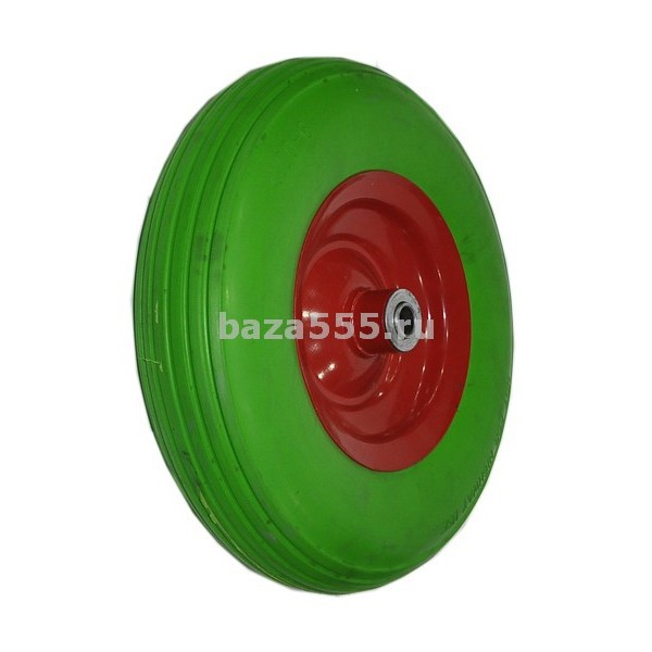 """Колесо 4,00 - 6 """" зеленое"""" полиуретановое для малышки"""