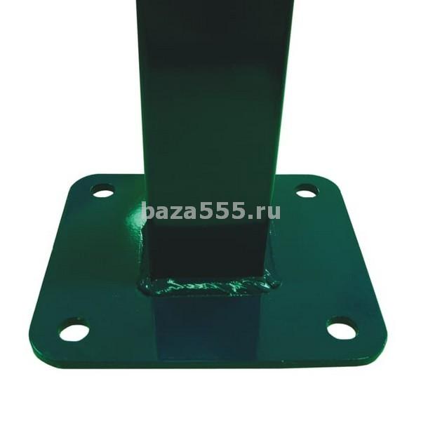 Столб для секционного ограждения  с флянцем  разм.60 х600 х 2м; вес-4,80 кг/шт.