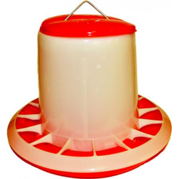 Бункерная кормушка с пласт.ручк.мод.NNT 04 выс.15см диам.20,5см 1.5кг/200 шт.