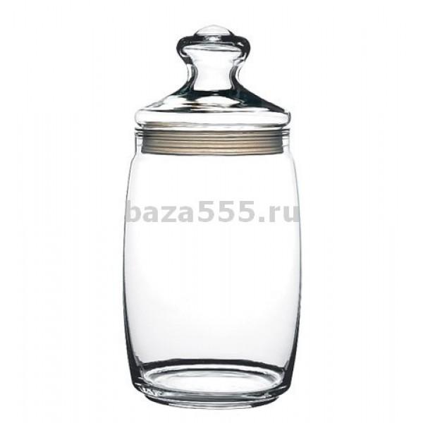 Емкость для сыпучих продуктов  стекл 1500 мл с кр Каллы голубые (Гусь-Хрустальный)9742645