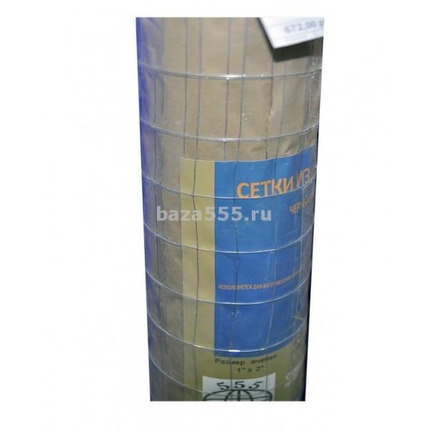 """Сетка для ограждений металл.1""""х2""""яч;0,55 вес;2,85кг(шир 0,9м/дл 20м)"""