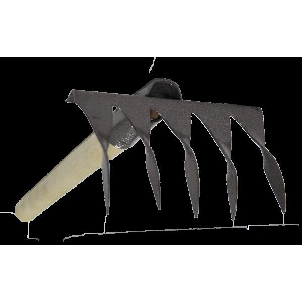 Грабли 5-зубьев с черенком/чеб/уп.10 шт.