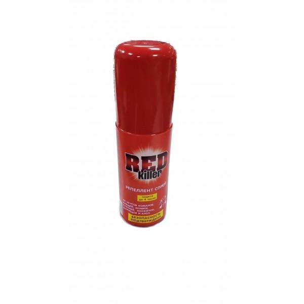 Спрей REDkiller от укусов комаров,клещей,мошки,слепней,москитов,мокрецов и блох 125мл.