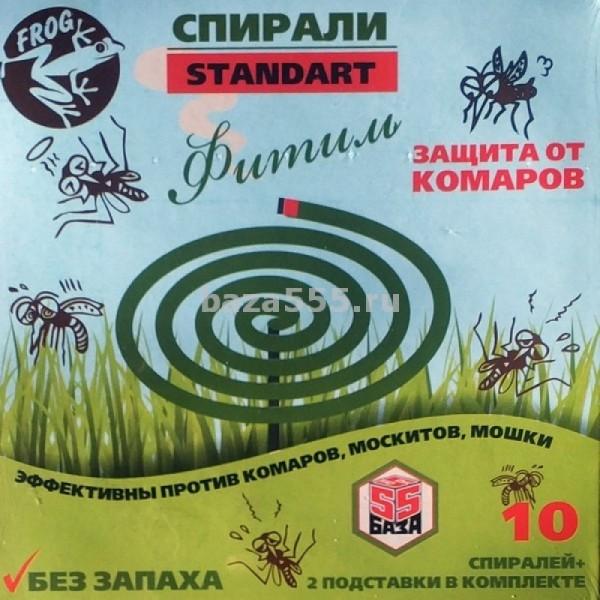 Спирали от комаров Стандарт  с подставкой (Фитиль)/60 шт в кор