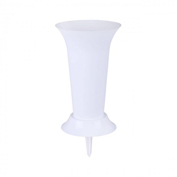 М3048 ваза под срезку с колышком(белый)(уп,12)